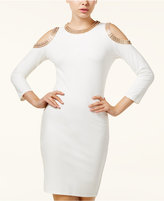 XOXO Juniors' Embellished Cold-Shoulder Bodycon Dress