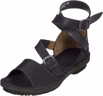 Fly London Women's FOXY476FLY Ankle Strap Sandals (Black Sole) 000) 7 (40 EU)