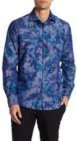 Stone Rose Long Sleeve Tropical Woven Dress Shirt