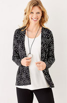 J. Jill Wearever Printed Pleated-Back Jacket