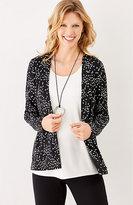 J. Jill Wearever Printed Pleated-Back Jacket