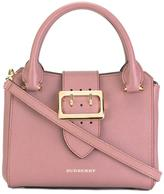 Burberry buckled strap tote - women - Cotton/Leather/Polyamide/Cashmere - One Size