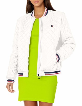Tommy Hilfiger Women's Full Zip Quilted Bomber Jacket