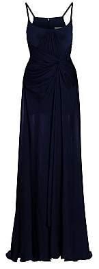 Gustavo Cadile Women's Spaghetti Strap Chiffon Gown