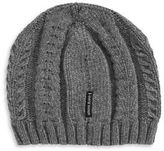 Armani Jeans Wool-Blend Cable Knit Tuque