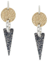 BCBGMAXAZRIA Hammered Geometric Plate Earrings