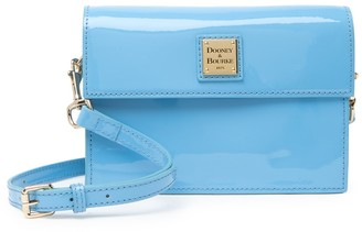 Dooney & Bourke Small East West Flap Patent Leather Crossbody