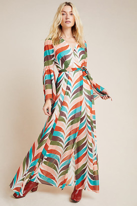 Hutch Elysees Geometric Wrap Maxi Dress By in Assorted Size XS P
