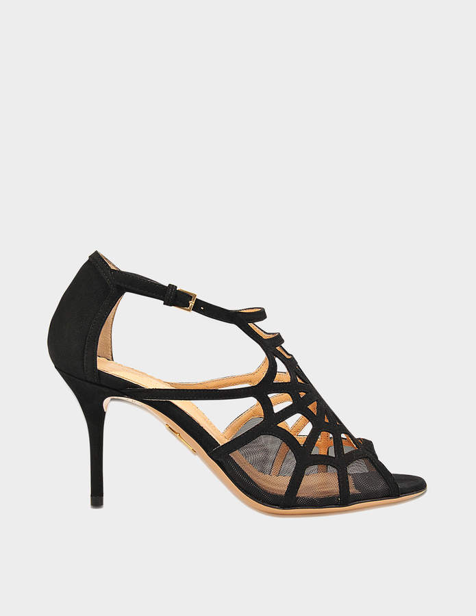 Charlotte Olympia Lotte suede mid pump