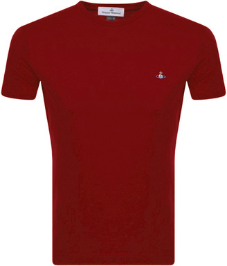 Vivienne Westwood Small Orb Logo T Shirt Red