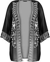 Evans EMBROIDERED Summer jacket black