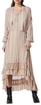 AllSaints Lara Polka Dot High/Low Dress