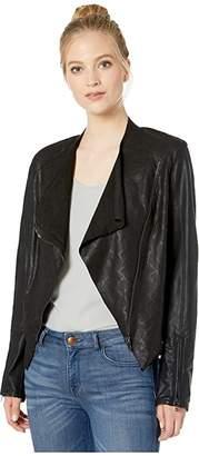 Blank NYC Faux Leather Collarless Jacket (Venom) Women's Coat