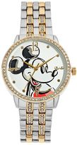 Disney Disney's Mickey Mouse Men's Crystal Two Tone Watch