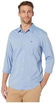 Dockers Supreme Flex Modern Fit Long Sleeve Shirt (Zeller Refined Shirting Delft Embroidery) Men's Clothing