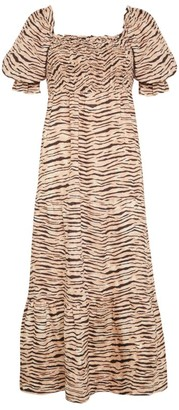Faithfull The Brand Animal Print De Christen Midi Dress