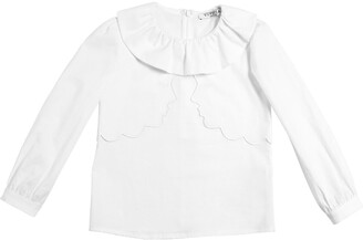VIVETTA Faces Embroidered Cotton Poplin Shirt