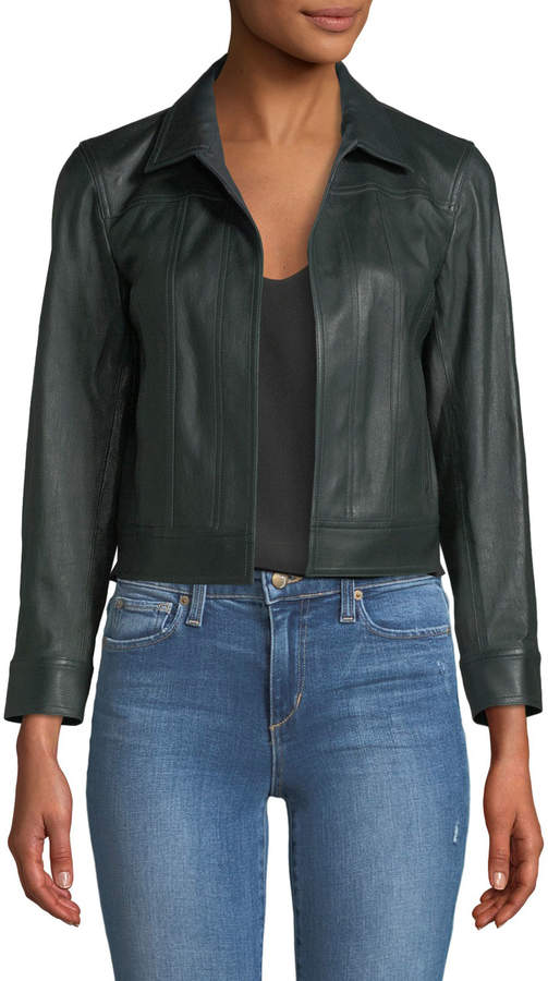 807f3a5001 Theory Women's Leather Jackets - ShopStyle