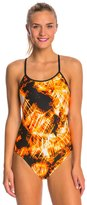 Nike Swim Solar Canopy Cut Out Tank One Piece Swimsuit 48178