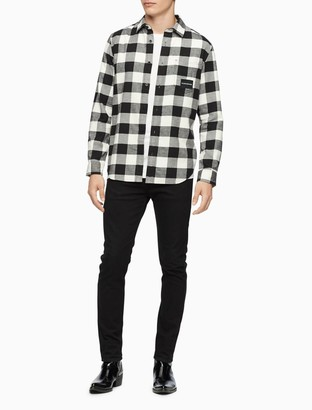 Calvin Klein Regular Fit Buffalo Plaid Button-Down Shirt