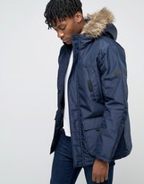 Jack and Jones Parka with Faux Fur Hood