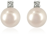 Forzieri 0.07ct Diamond and Pearl 18k Gold Earrings