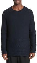 Yohji Yamamoto Men's Mixed Knit Wool Sweater