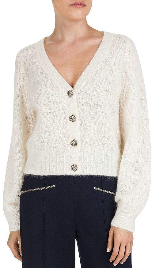 The Kooples Heart Shaped-Button Cardigan