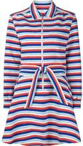 Julien David stripes flared dress