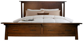 A America A-America Sodo Queen Storage Bed, With Integrated Bench, Queen