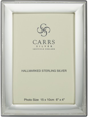 Carrs of Sheffield Berkeley Bead Photo Frame, Sterling Silver