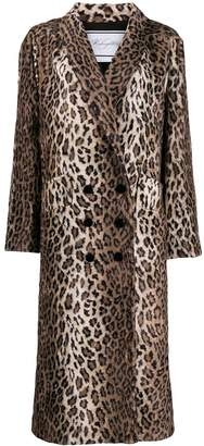 Redemption double-breasted leopard print coat