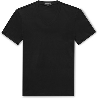 Ermenegildo Zegna Stretch-Cotton Jersey T-Shirt - Men - Black