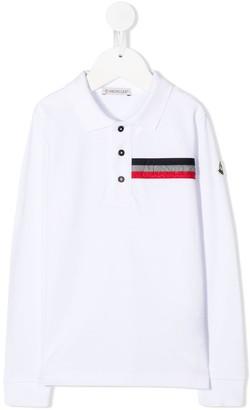 Moncler Enfant Cotton Long Sleeve Polo Shirt