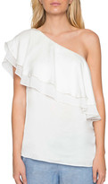 Willow & Clay One-Shoulder Ruffle Top