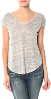 Chaser Linen Jersey V Neck Open Back Cap Sleeve Muscle Tee