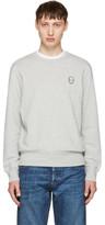 Alexander McQueen Grey Bullion Skull Patch Sweatshirt
