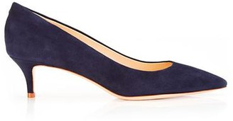 Marion Parke Must Have 45 Navy | Suede Kitten Heel Pump