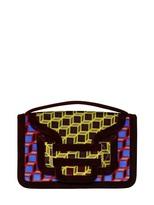 Pierre Hardy Bag 61 Cube Print Velvet Shoulder Bag