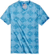 American Rag Men's Patchwork Shibori V-Neck T-Shirt, Only at Macy's