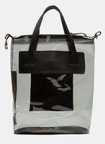 Eytys Void Transparent Waterproof Tote Bag in Navy