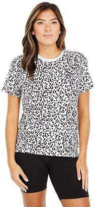 Puma Classics All Over Print Logo Tee (Vaporous Gray) Women's T Shirt