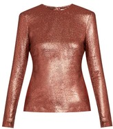 Zimmermann Karmic metallic silk-blend top