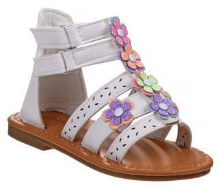 Laura Ashley Flower Buckle Gladiator Sandal (Toddler Girls)