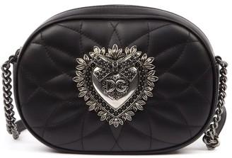 Dolce & Gabbana Black Matelasse Leather Devotion Shoulder Bag