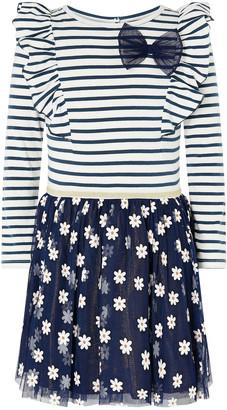 Monsoon Glitter Daisy 2-in-1 Dress Blue