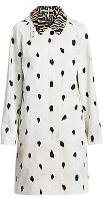 Burberry Women's Carrington Animal-Print Car Coat