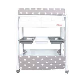 My Babiie MBCHGS Grey Stars Baby Bath and Changing Unit