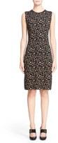 Lanvin Leopard Jacquard Sleeveless Sheath Dress