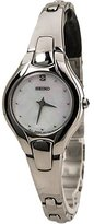 Seiko Women's SUJF85 Diamond Silver-Tone Mother of Pearl Dial Dress Watch